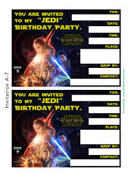 Free Templates For Invitations Birthday Free Star Wars The Force Awakens Invitation Thank You Card 67