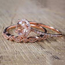 JaneDream <b>2 Pcs</b>/<b>Set Women</b> Bohemian Rose Gold Crystal Rings ...