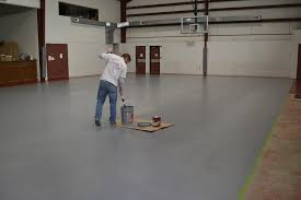 painting a cement floorPainting a Basketball Court  Building Moxie