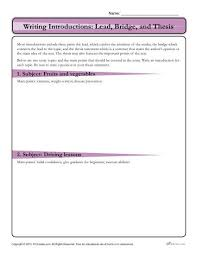 Writing Introductions How To Write An Introduction Lead Bridge And Thesis Activity