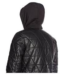 celio mens faux leather jacket