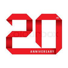Anniversary Ribbon 20 Years Anniversary Ribbon Vector Stock Vector Colourbox