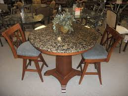 round granite top dining table set