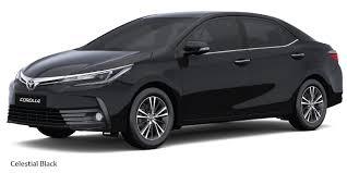 New Toyota Corolla Altis 2017 Colours Celestial Black