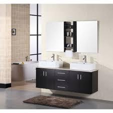 element contemporary bathroom vanity set: design element portland quot wall mount bathroom vanity espresso