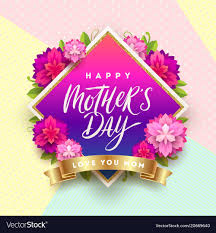 Mothers Greeting Card Happy Mothers Day Greeting Card Design Vector Image