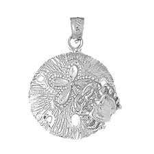 sterling silver 925 sand dollar pendant sterling silver pendants at jewelsobsession com