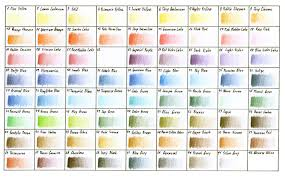 Colour Chart Derwent Studio Range By Davidrak Deviantart
