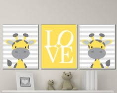 yellow and gray nursery art prints baby boy nursery by hopandpop on baby boy wall art nursery with baby giraffe nursery art yellow and grey nursery art decor giraffe