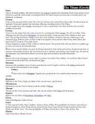 Greek And Roman Gods Goddesses