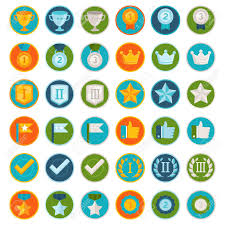 Online Badge Vector Set Of 36 Flat Gamification Icons Achievement Badges