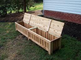 storage bench garden