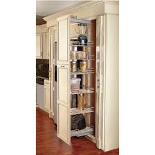 Image Shelfgenie Revashelf Pullout Pantry With Maple Shelves For Tall Kitchen Cabinet With Free Shipping Kitchensourcecom Nima Fadavi Revashelf Pullout Pantry With Maple Shelves For Tall Kitchen