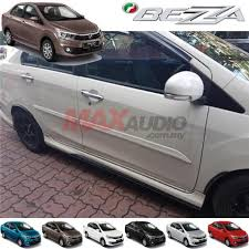 perodua bezza oem side door moulding body lining with paint