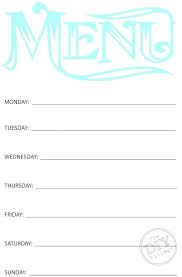 Weight Loss Menu Planner Template Daily Menu Planner Meal Template Weight Loss Com Weekly Plan