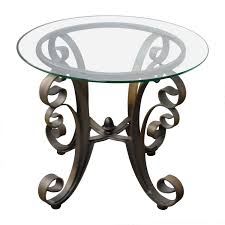 rooms to go rooms to go bronze metal base with glass top side table tables