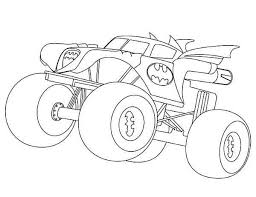 Small Picture Batman Monster Truck Coloring Page Kids Play Color Coloring