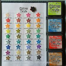 Stampingmathilda Distress Oxide Color Chart Distress