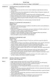 Facilities Manager Resume Sample Regional Facilities Manager Resume Samples Velvet Jobs 15