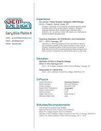 Gallery Of Graphic Designer Resume Template