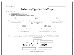 balancing equations challenge directions science chemistry balancing equations showme