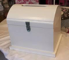 wedding small white wooden treasure chest hire