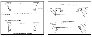 door jamb diagram. Below Is A Diagram That Shows The Most Common Jambs Applications. Also If Your Door Mounts Between Jamb Instead Of Surface Mount Make Sure Right Guides