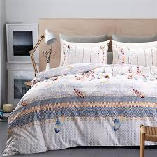 indian style white bedding set queen colored feather pattern duvet cover sets king twin size soft and comfortable home beddings canada 2019 from yigu002