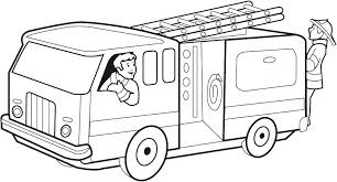 Fire Truck Colouring In Simple Truck Coloring Pages Fire Trucks