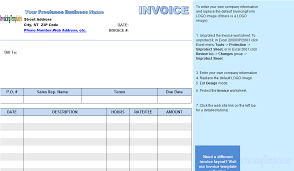 freelance excel freelance invoice template