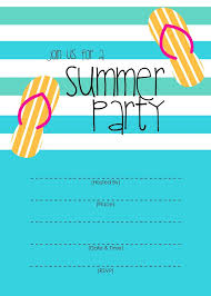 Beach Party Invitations Free Printable Free Pool Party Invitations