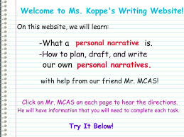what is a personal narrative essay how to write a dissertation  occupational therapy essay