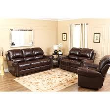 Abbyson Lexington Dark Burgundy Italian Leather Reclining Chair and Sofa  Set   Hayneedle