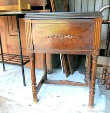 sewing machine cabinet antique table value ideas singer