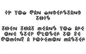 funny Pokemon letters font hidden message
