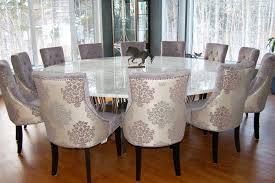 Innovation Ideas Round Dining Room Tables For 10 Stylish Design ...