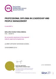 professional diploma in leadership and people management is awarded to professional diploma in leadership and people management id no melvin chan yong