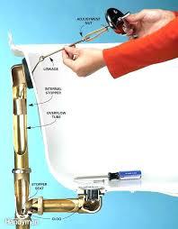 fix bathtub drain bathtub drain stopper repair remove bathtub drain plug tub overflow drain how to