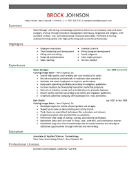 Gallery Of Salon Owner Resume