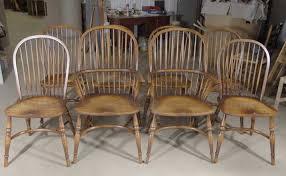 8 farmhouse english windsor dining chairs oak