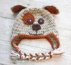 Crochet Dog Hat Pattern Enchanting Crochet Puppy Hat Pattern Repeat Crafter Me