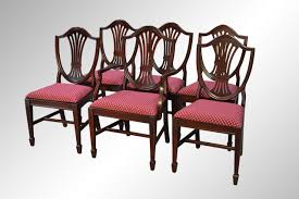 sold set of six gany duncan phyfe shield back dining chairs maine antique furniture