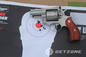 ruger redhawk 357 magnum revolver on target eight rounds