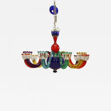 listings furniture lighting chandeliers and pendants gio ponti italian 1950s mutlicolored murano glass chandelier