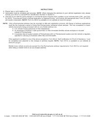 Dmv Change Of Address Form Pennsylvania Free Download
