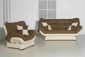 Microfiber Living Room Sets Two Tone Microfiber Contemporary Living Room W Sleeper Sofa