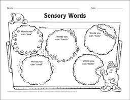 Sensory Words Word Choice Graphic Organizer Mini Lesson