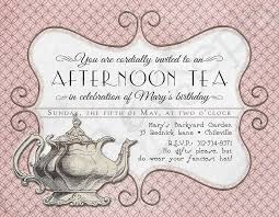 Tea Invitations Printable Printable Tea Party Birthday Invitation 4 25 X 5 5 4x6 5x7