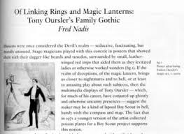 tony oursler s family gothic fred nadis essay for 2015 exhibition catalog about multimedia artist tony oursler whose grandfather was a magician novelist and friend of houdini and arthur