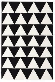 pyramid flat weave rug black 225x155cm